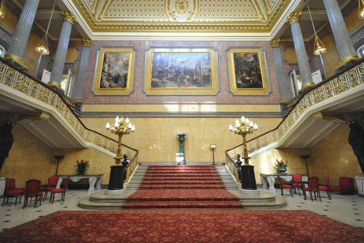 staircase at the Lancaster House