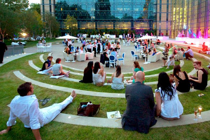 Outdoor summer events venues
