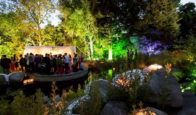 london venues with outside space at the lookout