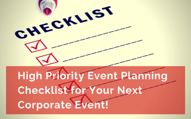 priority event planning checklist for your next corporate event