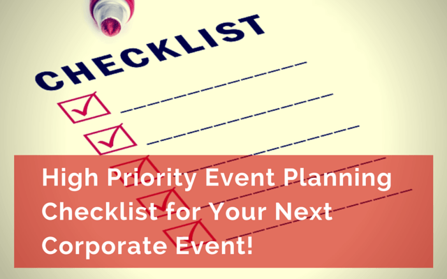 High Priority Event Planning Checklist