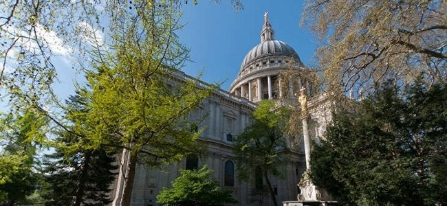 St Paul's Cathedral is a good place for banqueting halls in east London,