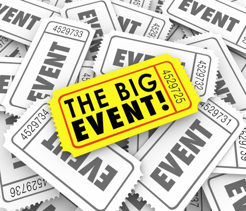 big event ticked, event timeline, venueseeker