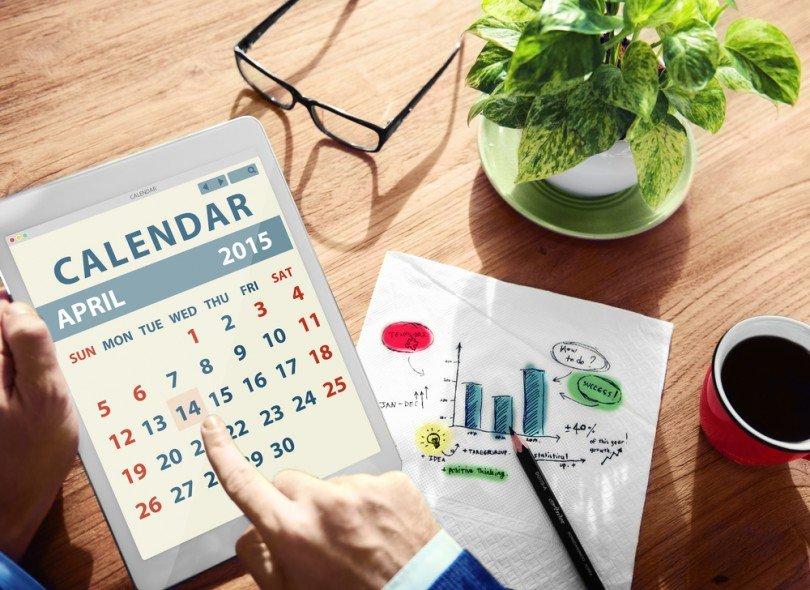 Calendar, event timeline, venueseeker