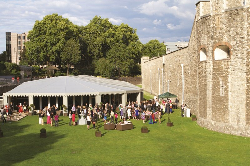 The pavilion at the tower of london