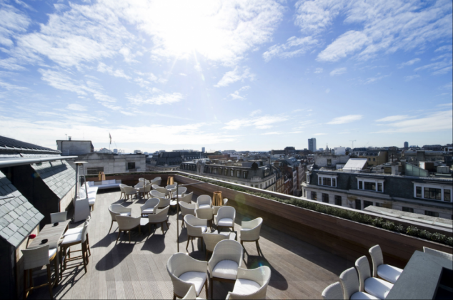 roof terraces to hire