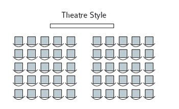 Theatre style event room layouts