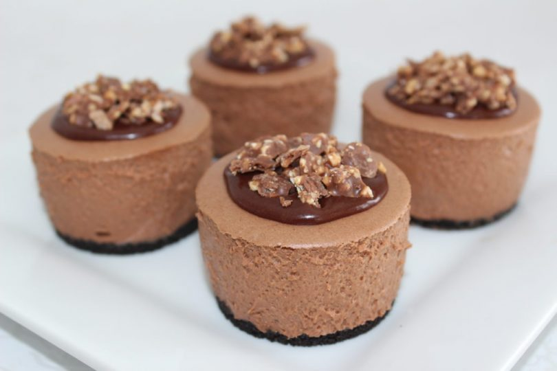 mini nutella cheescake