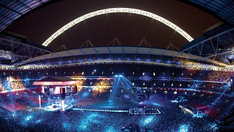 Wembley Stadium night event