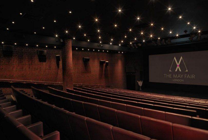 the May Fair Hotel cinema - cinema hire london