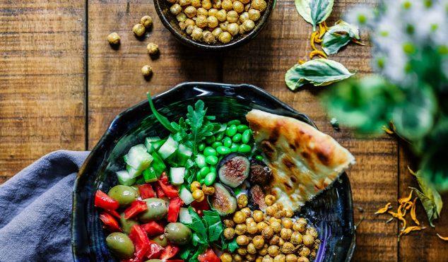 A bowl of vegan food